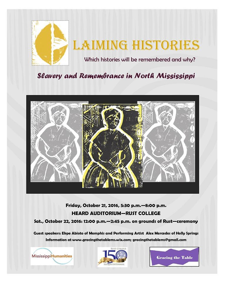 Claiming Histories event poster