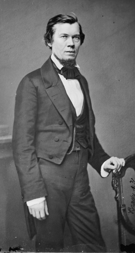 "Library of Congress description: ""Hon. Jacob Thompson of Miss."" photographed by Mathew Brady. Library of Congress Prints and Photographs Division. Brady-Handy Photograph Collection. http://hdl.loc.gov/loc.pnp/cwpbh.02849."